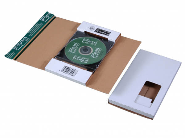 225x125x12  CD-Mailer mit Adressfenster links